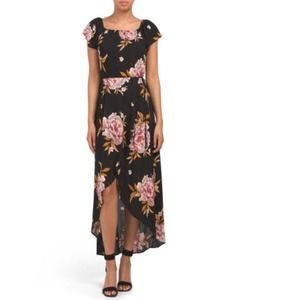 Band of Gypsies Floral HI LO Maxi With Smocking